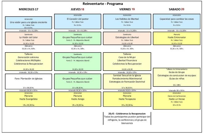 CONFERENCIA 2014 Programa